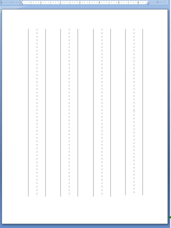 printable kindergarten lined paper template .