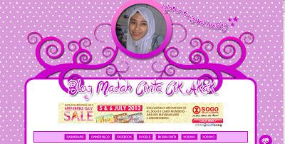 Blog Madah Cinta Cik Akak