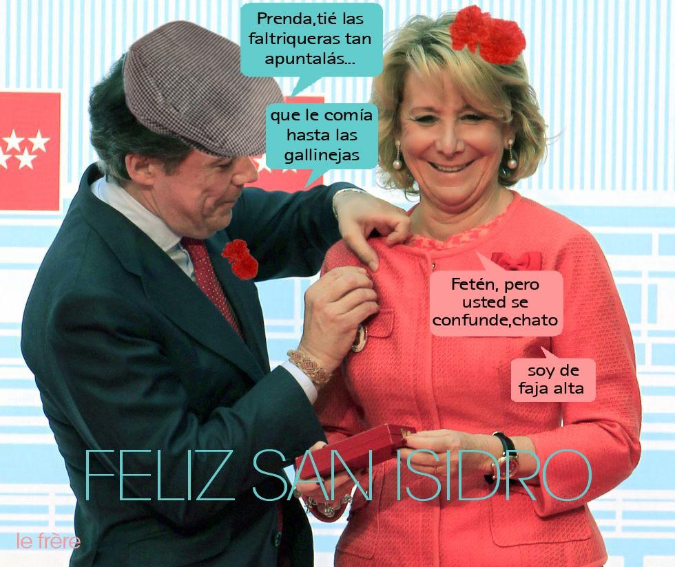 """San Isidro"", ""Ignacio González"", ""Esperanza Aguirre"", ""fiestas"", ""Madrid"", ""Chorizos"", ""Mayo"""