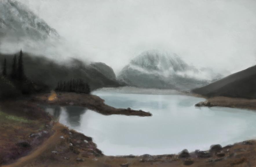 Canada landscape Photoshop study 3