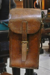 A should-have-purchased vintage 1940s WWII Leather Ammunition cartridge case.