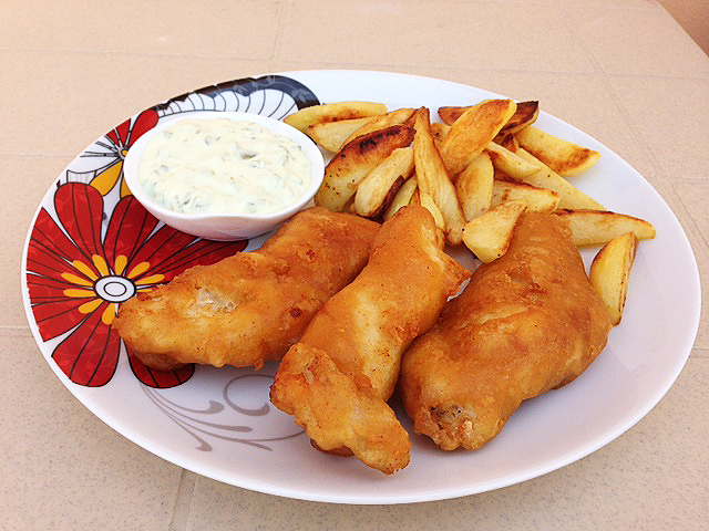 Cooking in the desert crispy homemade fish chips for How to make fish and chips