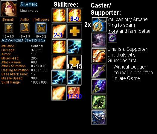 slayer lina inverse item build skill build tips dota bite