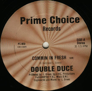 Double Duce - Commin In Fresh (Vinyl, 12\'\' 1985)(Prime Choice Records)