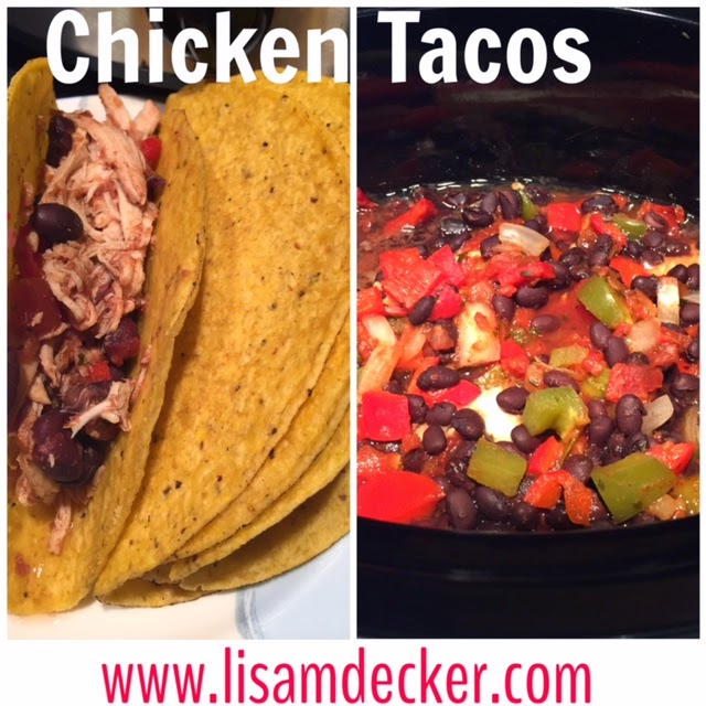 Clean Eating, Chicken Tacos, Easy dinners, crock pot meals