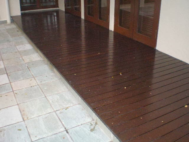 Gate and roof our decking fibre wood decking - Suitable materials for decking ...