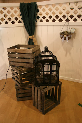 best wooden crates and a beautiful bird cage for a filler the bird cage came from hobby lobbyand it will find a home somewhere in my house with wooden - Wooden Crates Hobby Lobby