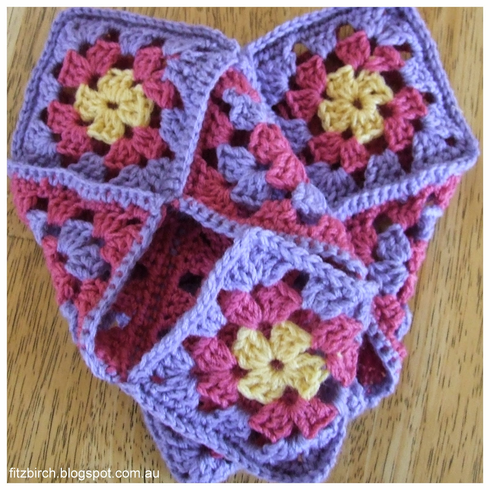 FitzBirch Crafts: Granny Square Slippers