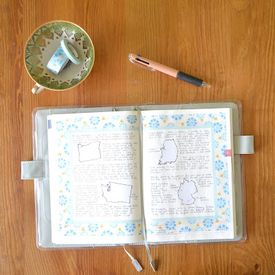 Papered Pine | Daily Hobonichi Planning Page