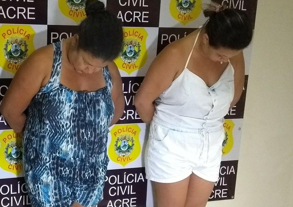 Mãe e filha são presas por tráfico de drogas no bairro João Eduardo, em Rio Branco