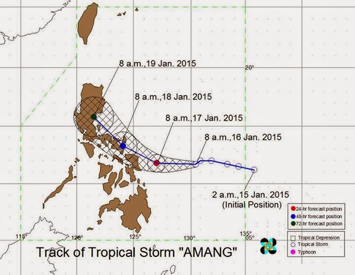 Bagyong Amang Update January 16 Storm Signals Released