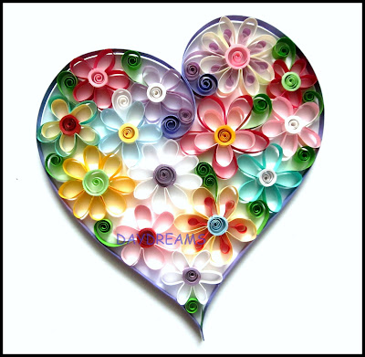 Daydreams quilled valentine for Quilling heart designs