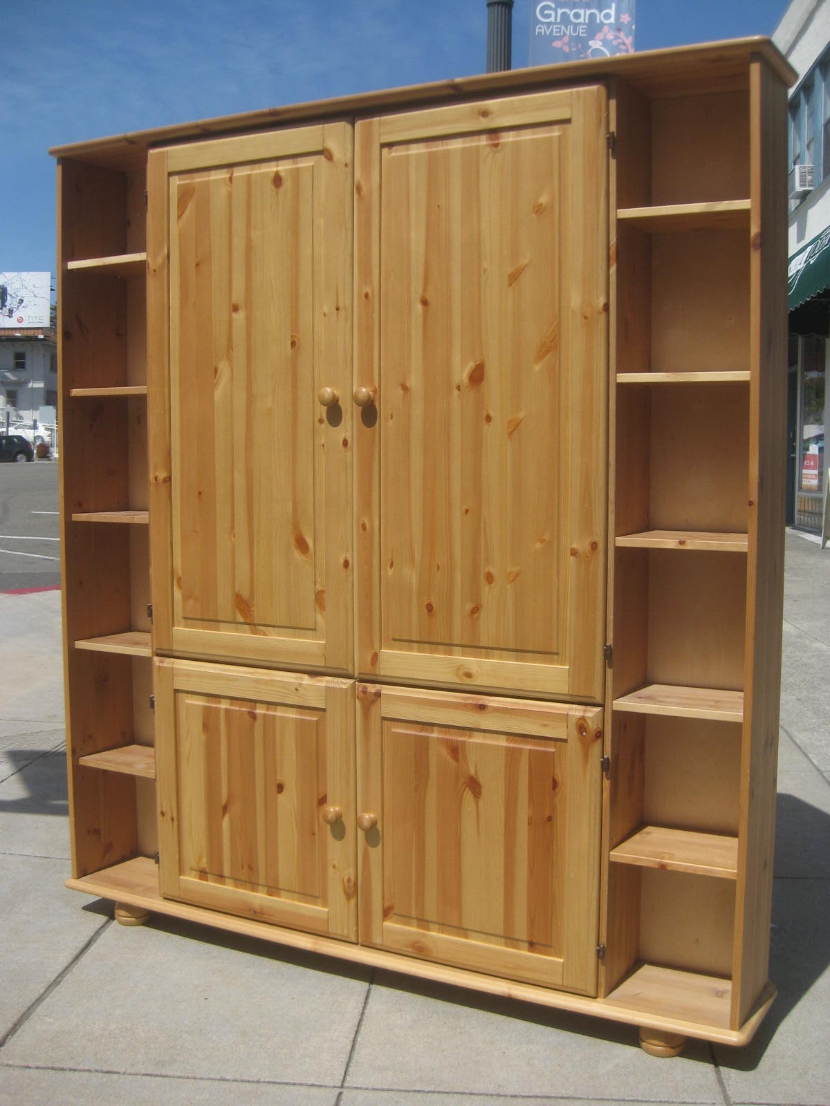 Amazing photo of UHURU FURNITURE & COLLECTIBLES: SOLD Pine TV Armoire $85 with #946937 color and 1200x1600 pixels