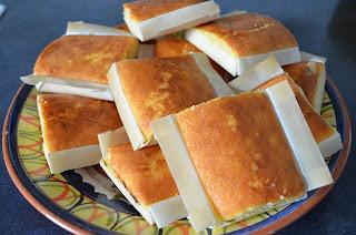 limoncitos, pastelitos de limón hechos con sobaos y crema de limón