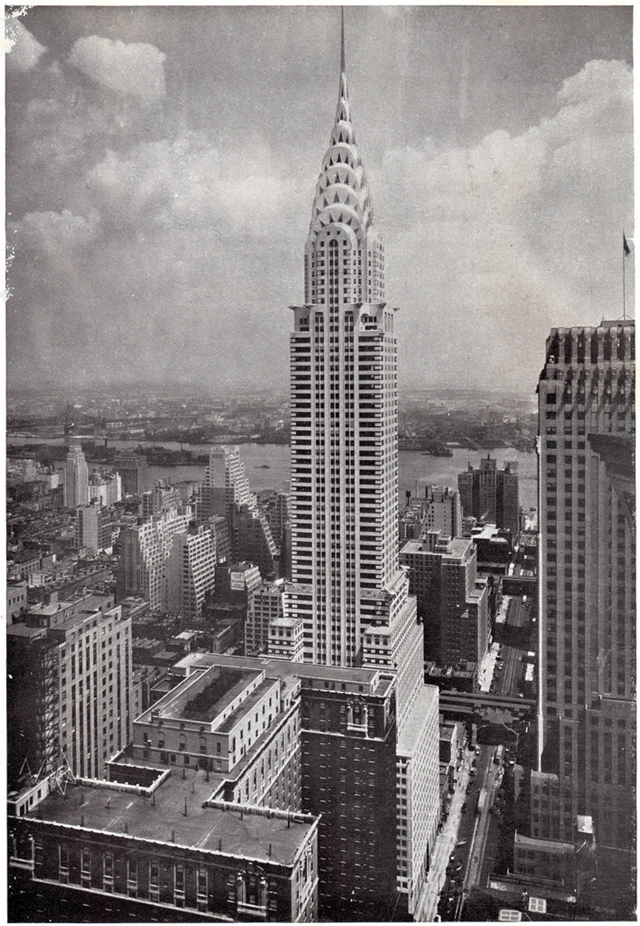Old picture of the Chrysler Building, New York City