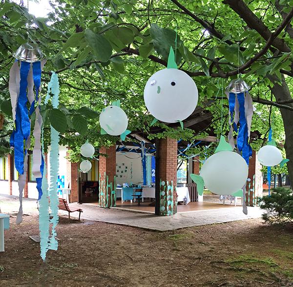 i palloncini-pesciolini nel bosco incantato