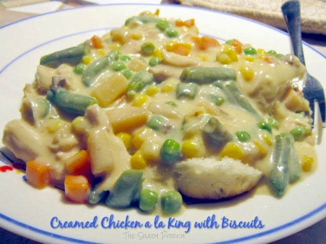 Creamed Chicken a la King with Biscuits: Slow Cooker