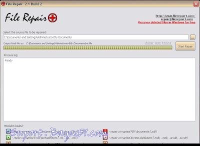 File Repair 2.1 Build 2   Perbaiki File Rusak 2