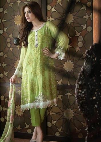 Maria-B Mbroidered Pure Silk/Chiffon