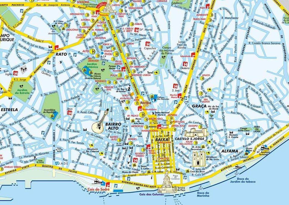 Plan De Ville De Lisboa