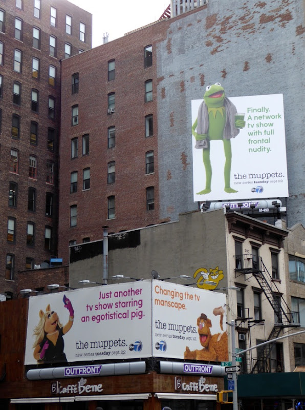Muppets series launch billboards NYC