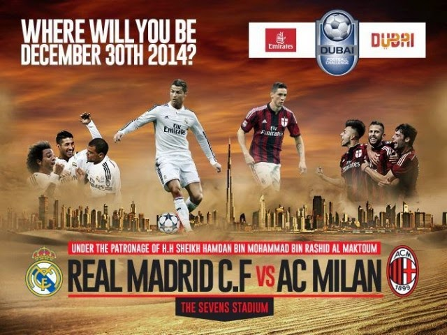 Real Madrid vs AC Milan Dubai Football Challenge 2014