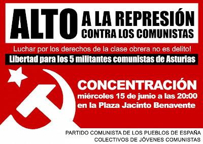 El PCPE exige la libertad inmediata y sin cargos de sus militantes detenidos en Asturias. - Página 3 2cd9d1d7bb30511eb4cd517c131ae148_M