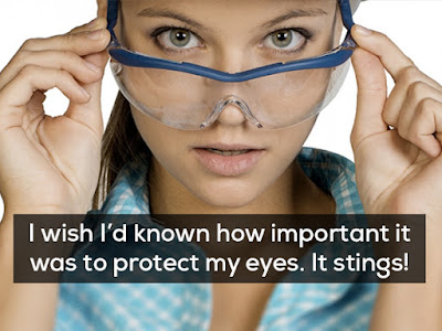 Eye Protection: You never know when things will fly (or squirt) into your eye during the nasty.