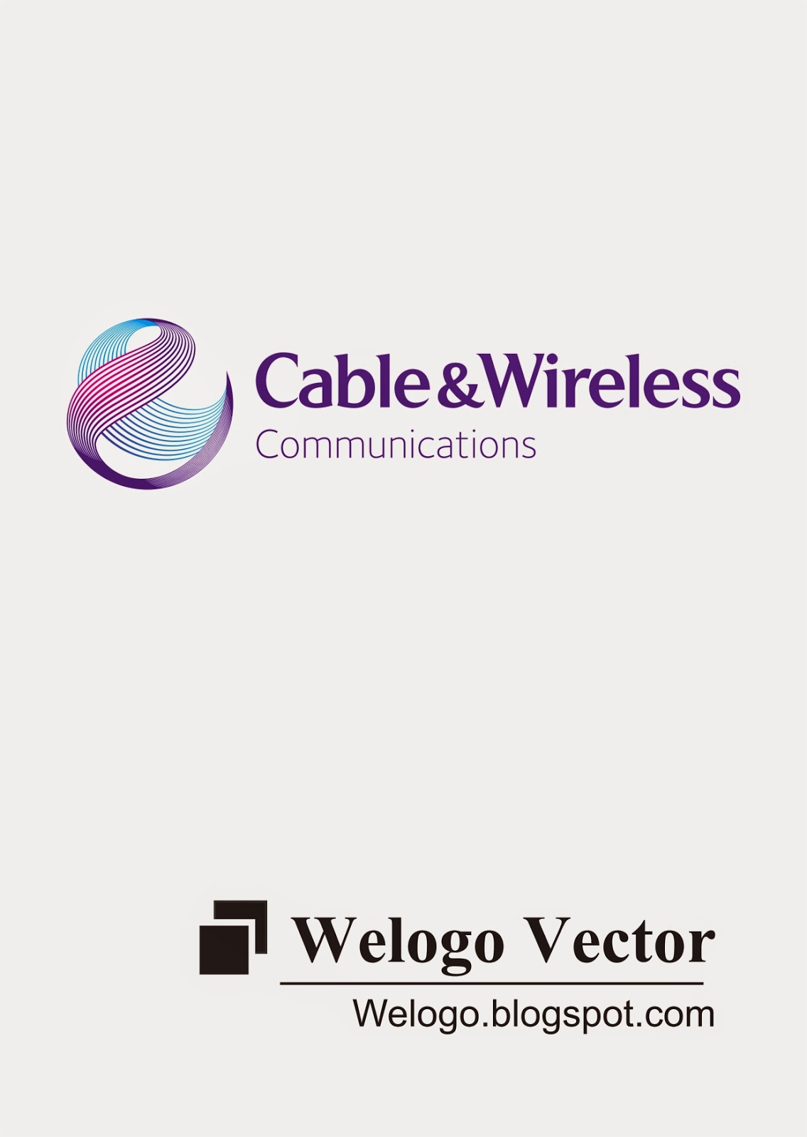 Cable And Wireless Logo Vector Welogo