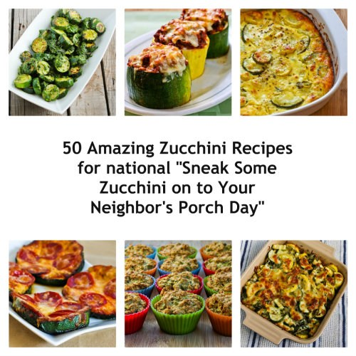 50 Amazing Zucchini Recipes found on KalynsKitchen.com