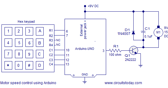 Pwm Motor Speed Control Using Arduino