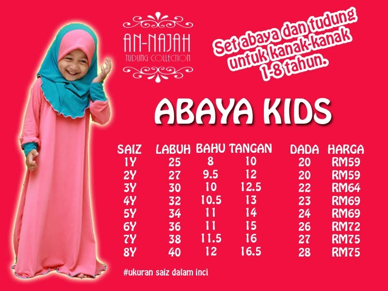 ABAYA KIDS (HOT ITEMS!!)
