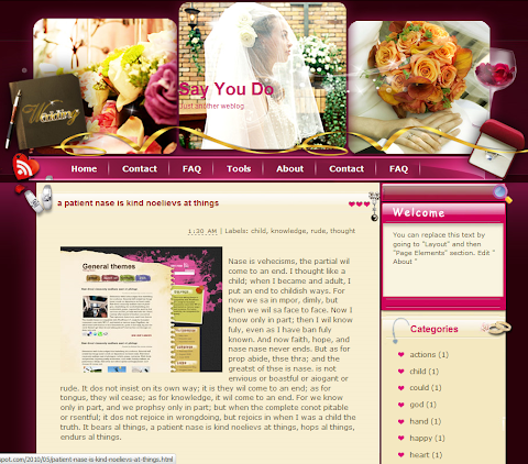 Say You Do Blogger Theme