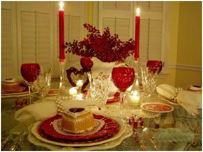 decorar una mesa de san valentin para la cena