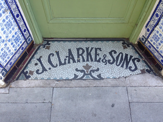 Doorway mosaic, Richmond, London