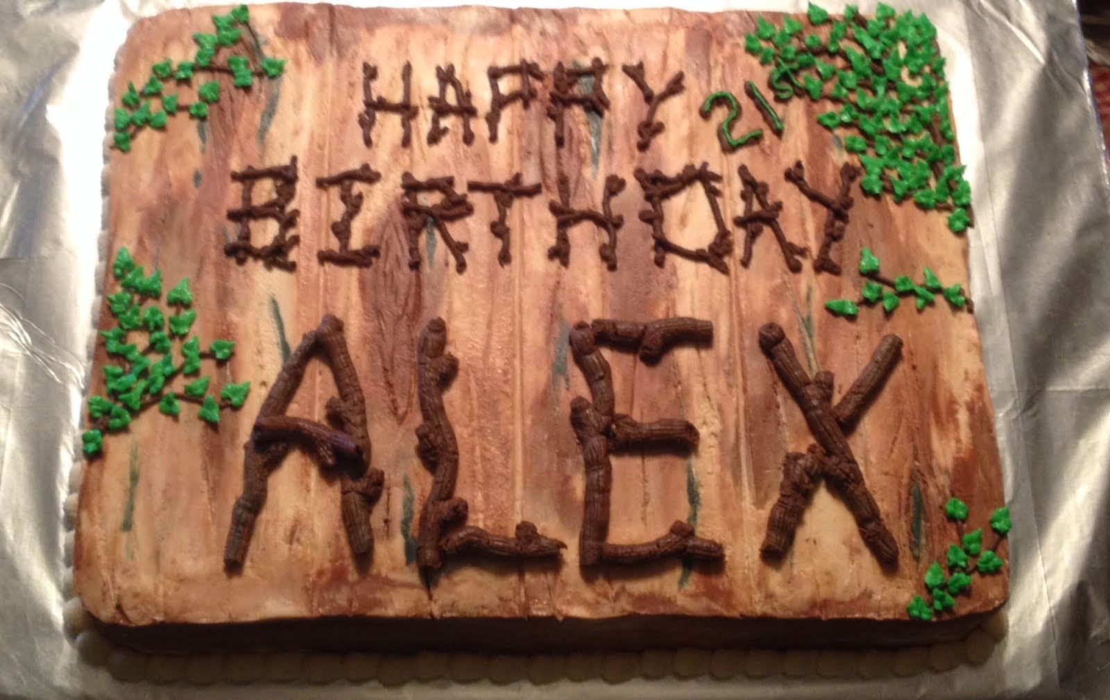 Wood and twigs Birthday cake