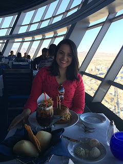 almoço no restaurante top of the world - stratosphere casino - las vegas