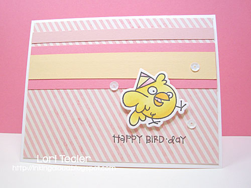 Happy Bird-day card-designed by Lori Tecler/Inking Aloud-stamps and dies from Paper Smooches