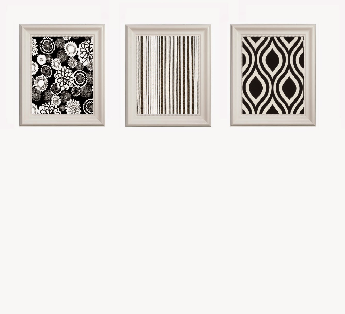 hanging fabric in frames