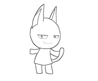 #15 Animal Crossing Coloring Page