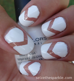 White Negative Space Manicure