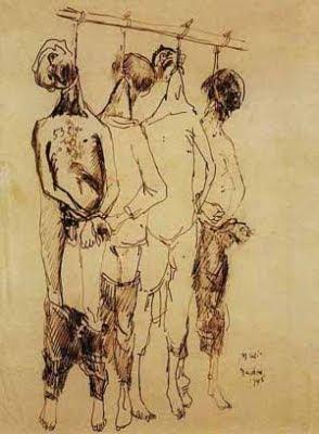 Dibuix realitzat a Dachau, 1945 (Zoran Music)