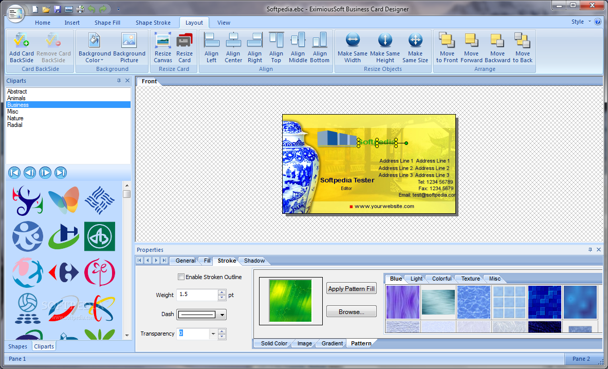 Eximioussoft business card designer 311 download software full free eximioussoft business card designer is a powerful but easy software for creating professional looking business cards with whichyou can design your own reheart Images