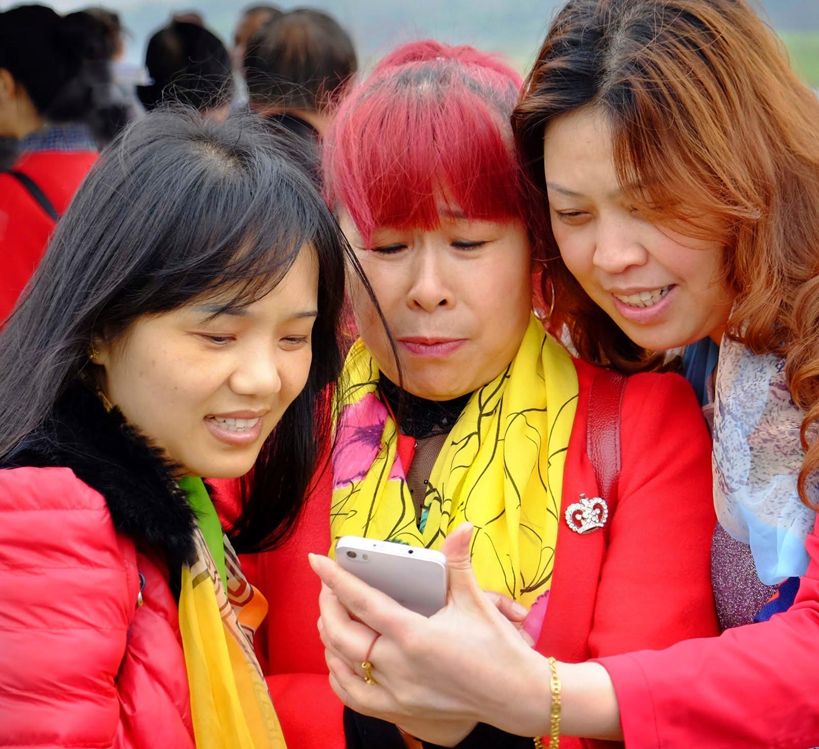 Selfie sur la rivière Lijiang
