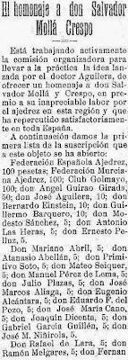 Homenaje a Salvador Mollá, El Liberal, 14 de abril de 1929 (1)