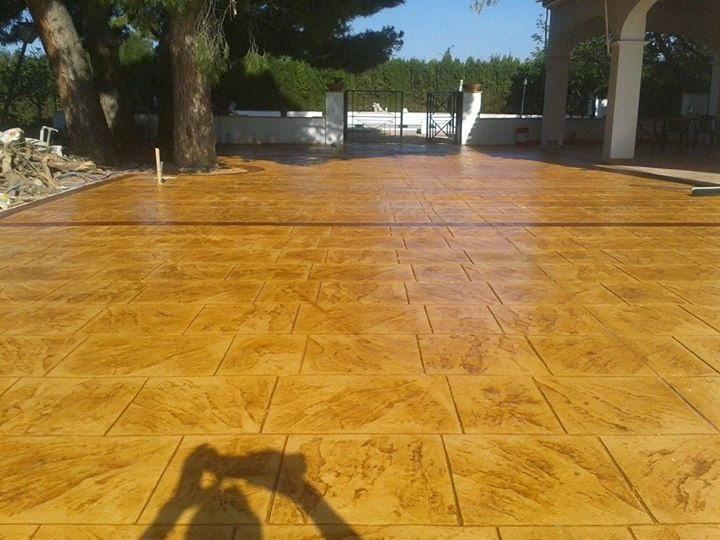 Hormigon impreso javea pavimentos impreso en javea for Pavimento de hormigon tarragona