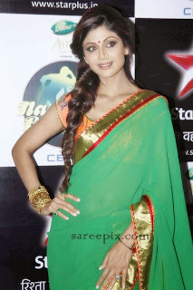 Shilpa shetty saree at Nach baliye semi finals
