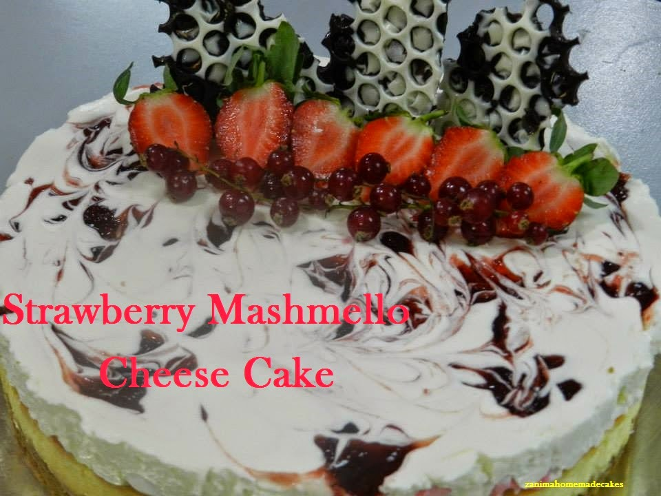 Strawberry Mashmello Cheese Cake