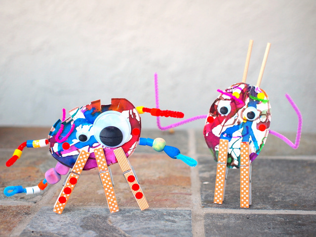 make monster sculptures with kids
