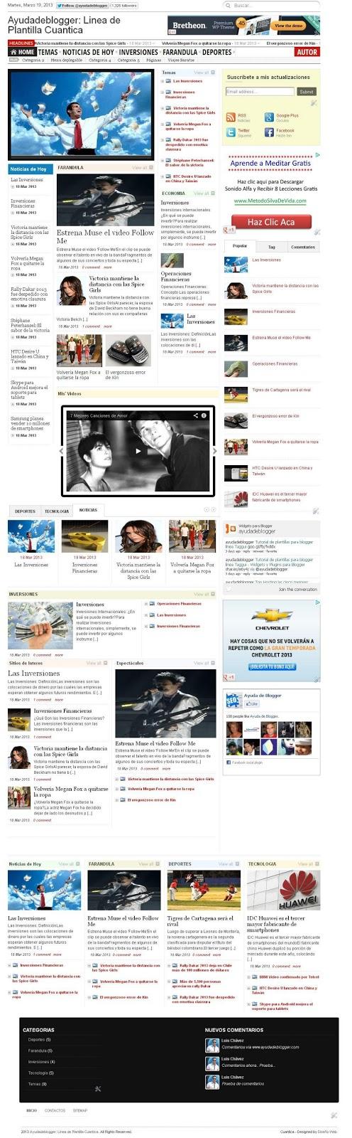Plantillas para Blogger Gratis Línea Cuántica hostgator